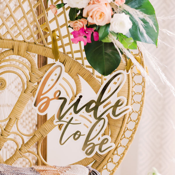 Bride to Be Chair Sign Bridal Shower Decor, Double Layer Acrylic