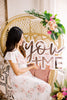 "22"" YOU + ME Wedding Backdrop Sign, Acrylic Double Layer"