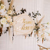 "21"" Custom Geometric Wedding Sign, Wood with Acrylic - Malibu Collection"