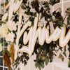 Custom Double Layer Last Name Wedding Sign, Wood or Acrylic - Blissful Collection
