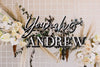 "30"" Custom Shadow Layer Wedding Backdrop Sign, Wood or Acrylic, 2-Line - Dreamer Collection"