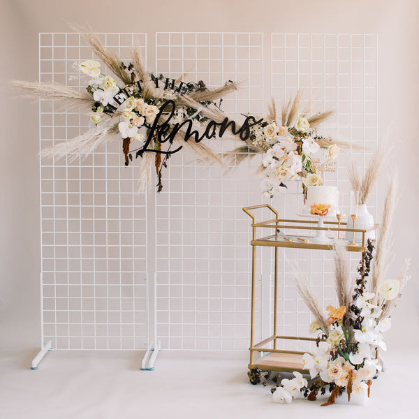 Curved Meet the Newlyweds Sign, Wood or Acrylic - Dreamer Collection