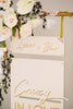 2 Piece Welcome Wedding Sign, Wood or Acrylic - Malibu Collection