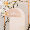 Wedding Package - 2pc Custom Backdrop Sign & Welcome Sign Package - Half Circle, Darling Collection