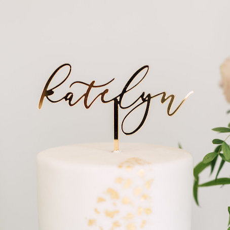 "6"" Custom Name Cake Topper, Acrylic"