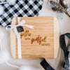Gather with Grateful Hearts Engraved Cutting Board