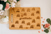 Gratitude Engraved Rectangle Bamboo Cutting Board