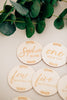 Custom Engraved Baby Milestone Markers, Acrylic or Wood (Set of 14)