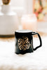 Girl Power Coffee Mug, Engraved Porcelain - Black