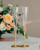 Waterford Lismore Diamond Gold Champagne Glasses