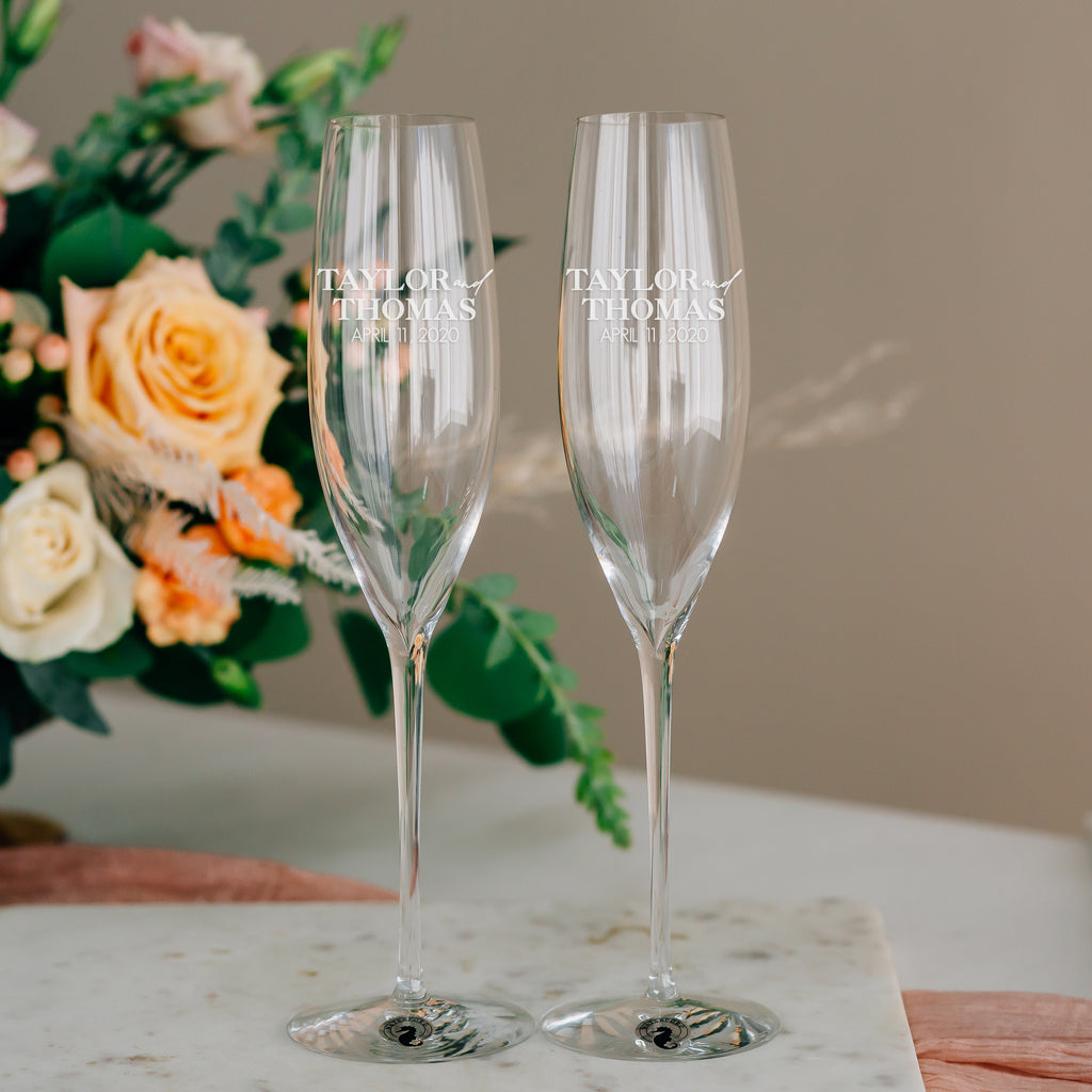 Waterford Elegance Classic Champagne Flute Pair