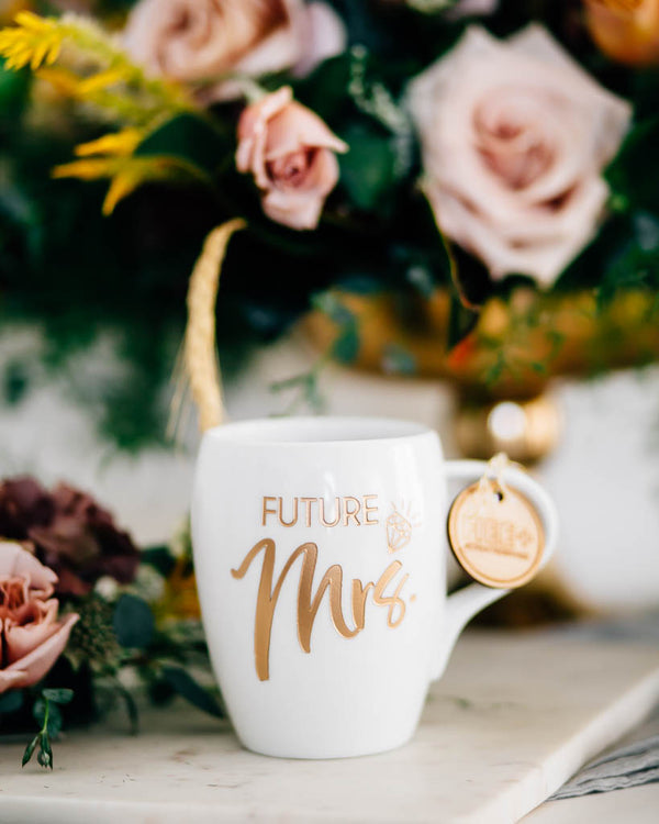 Future Mrs Coffee Mug, Engraved White Porcelain