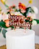 "5.75"" Engraved Happy Birthday Cake Topper - Urban, Acrylic or Wood"