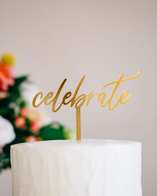 "5.5"" Celebrate Cake Topper - Dreamer, Acrylic or Wood"