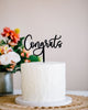 "5.5"" Congrats Cake Topper - Darling, Acrylic or Wood"