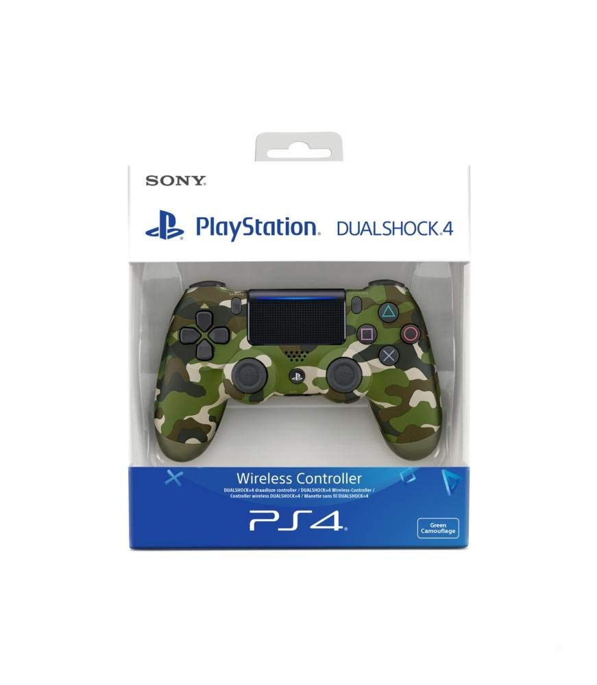 Sony PlayStation DualShock 4 Controller - Green Cammo, Controller, DVDMEGASTORE, DVDMEGASTORE