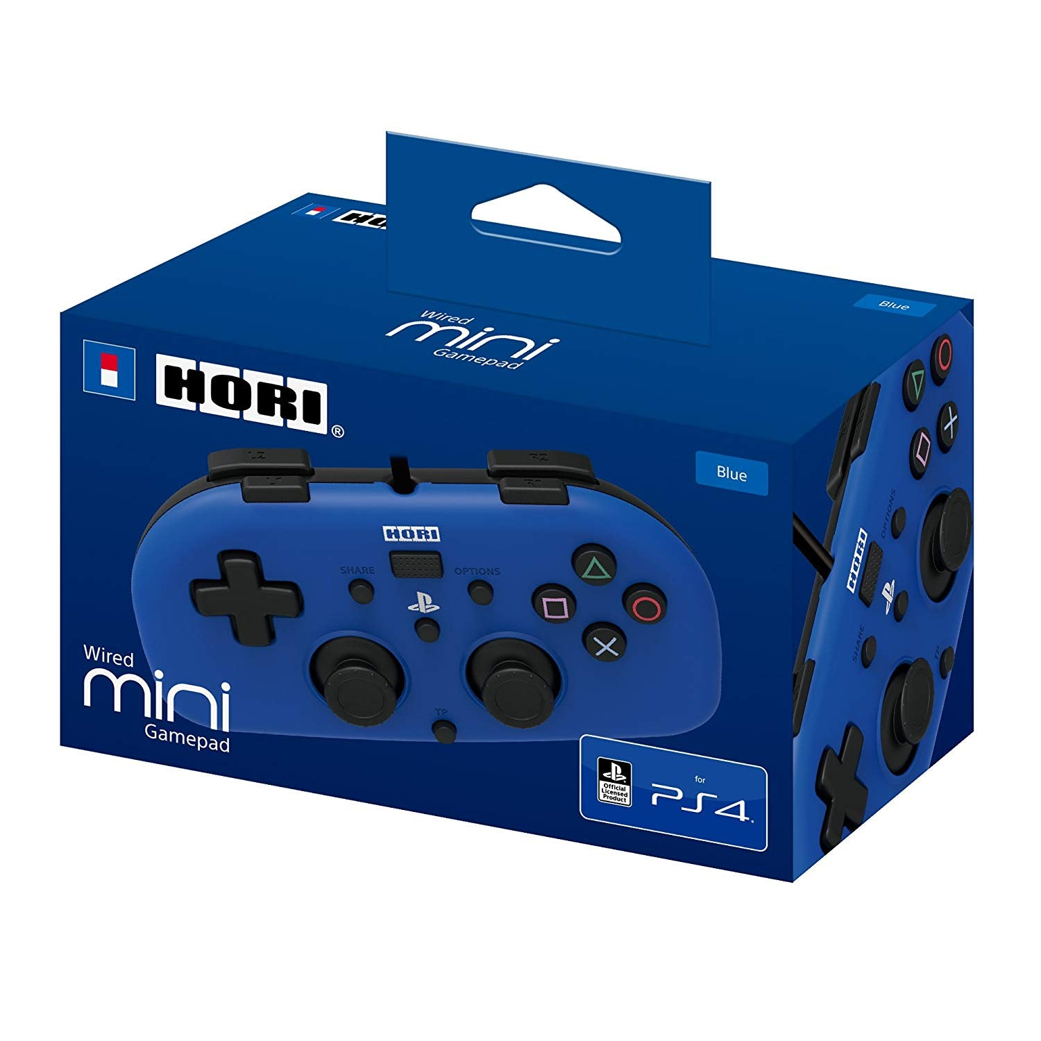 Wired Mini Gamepad for Kids - PlayStation 4 Controller - Officially Licensed (Blue)