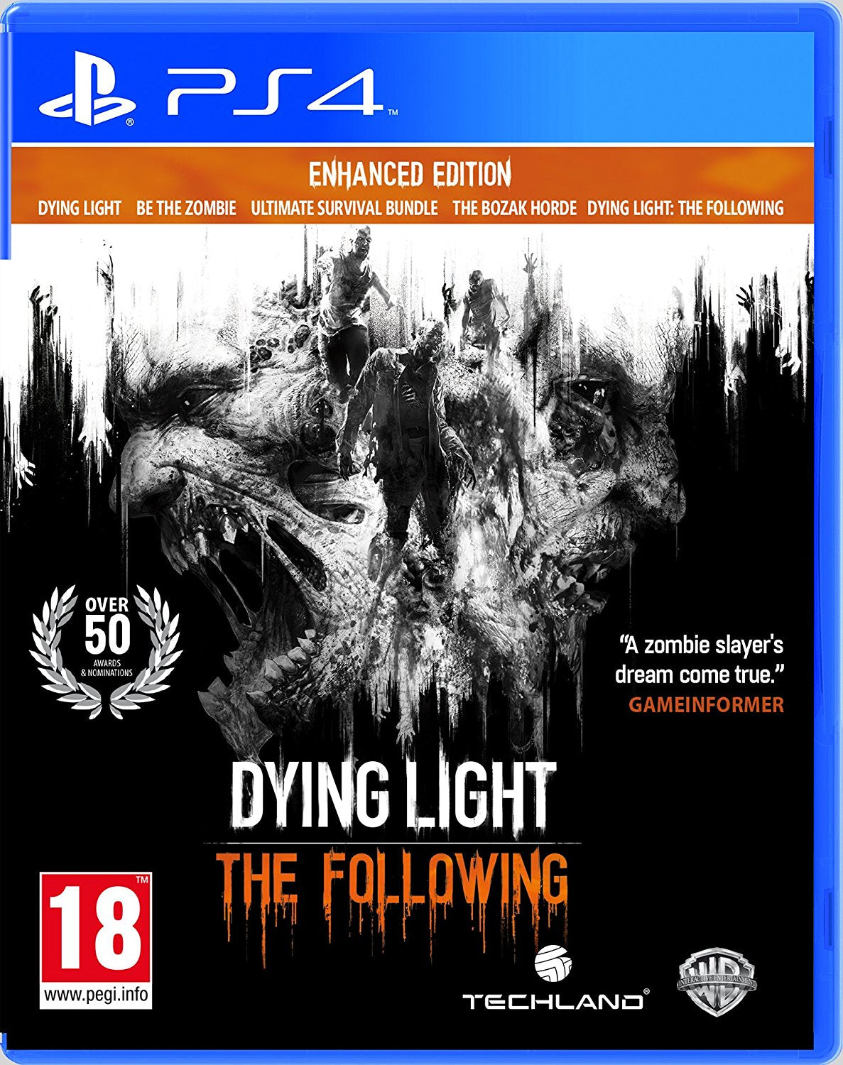 Dying Light: The Following Enhanced Edition PS4, PS4, DVDMEGASTORE, DVDMEGASTORE