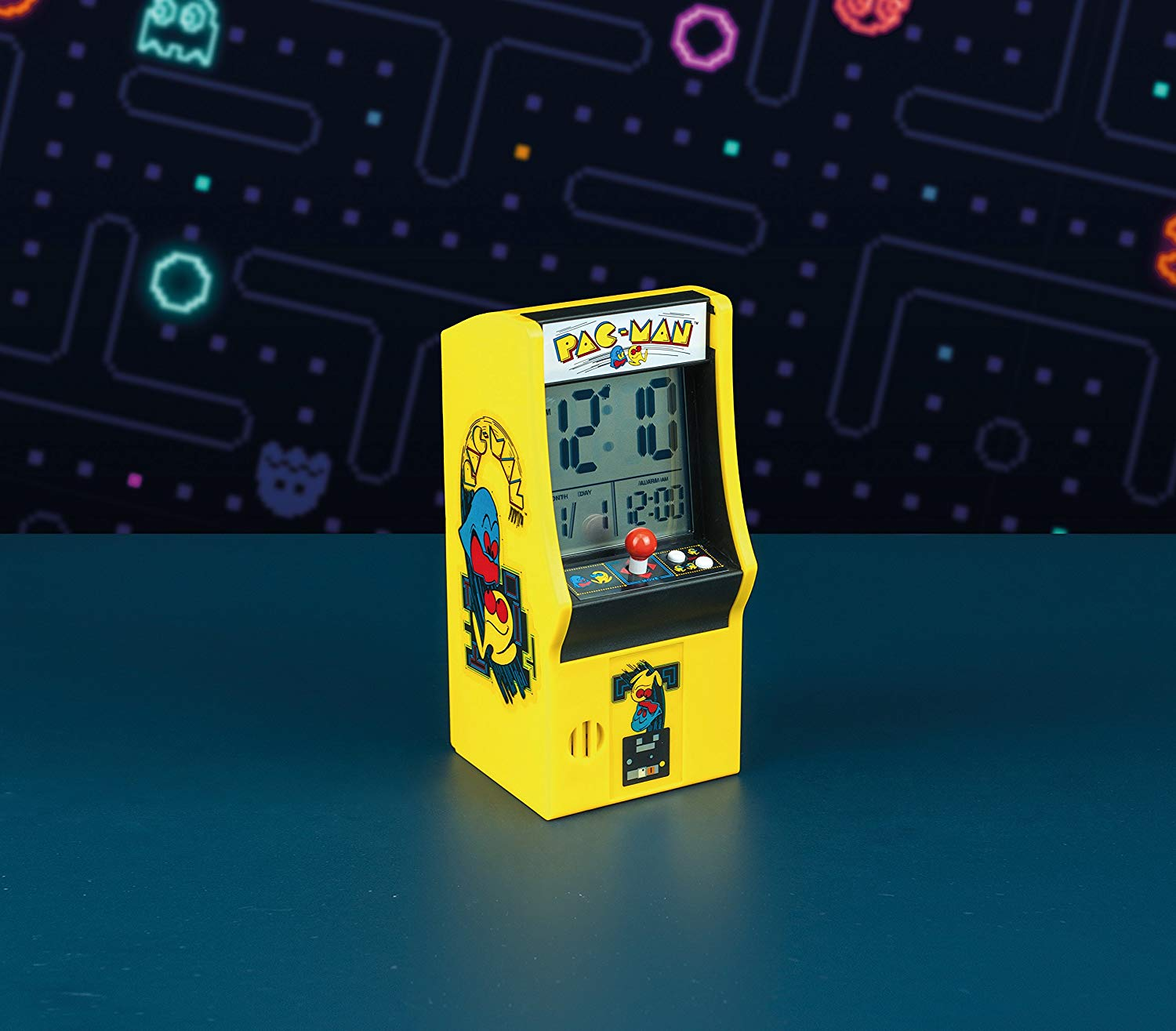 Pac Man Arcade Alarm Clock, Multi-Colour