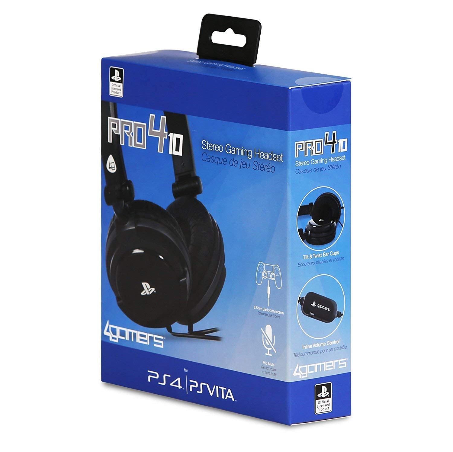 PRO4-10 Officially Licensed Stereo Gaming Headset - Black PS4/PSVita