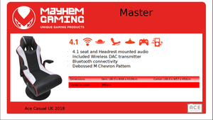 Mayhem Master 4.1, Gaming Chair, DVDMEGASTORE, DVDMEGASTORE