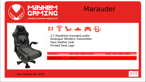 Mayhem Marauder 2.1, Gaming Chair, DVDMEGASTORE, DVDMEGASTORE