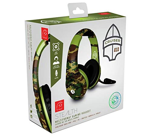 Stealth XP-Cruiser Woodland Camo Multi Format Stereo Gaming Headset PS4 XBOX ONE Nintendo Switch