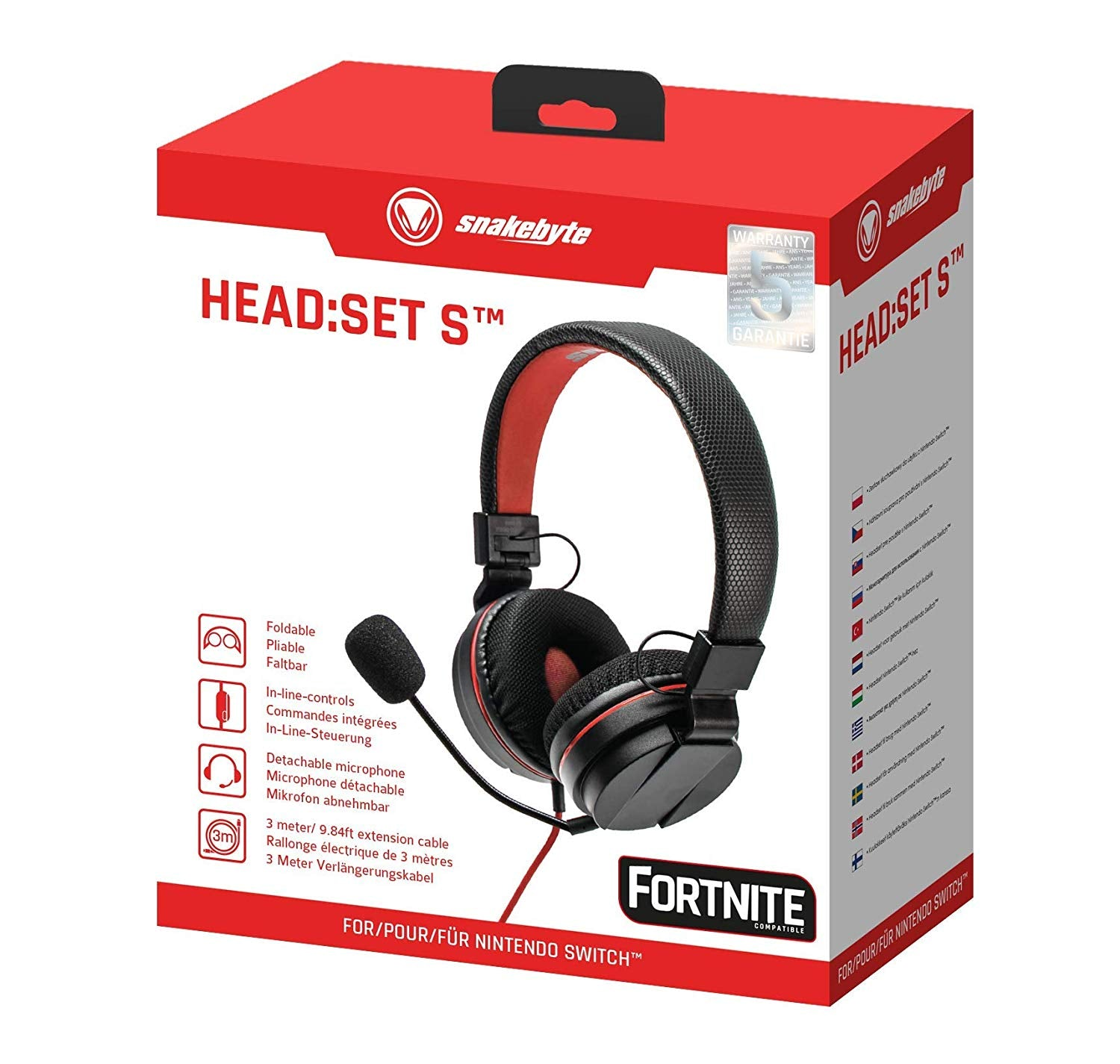 Snakebyte Headset S Stereo for use with Nintendo Switch