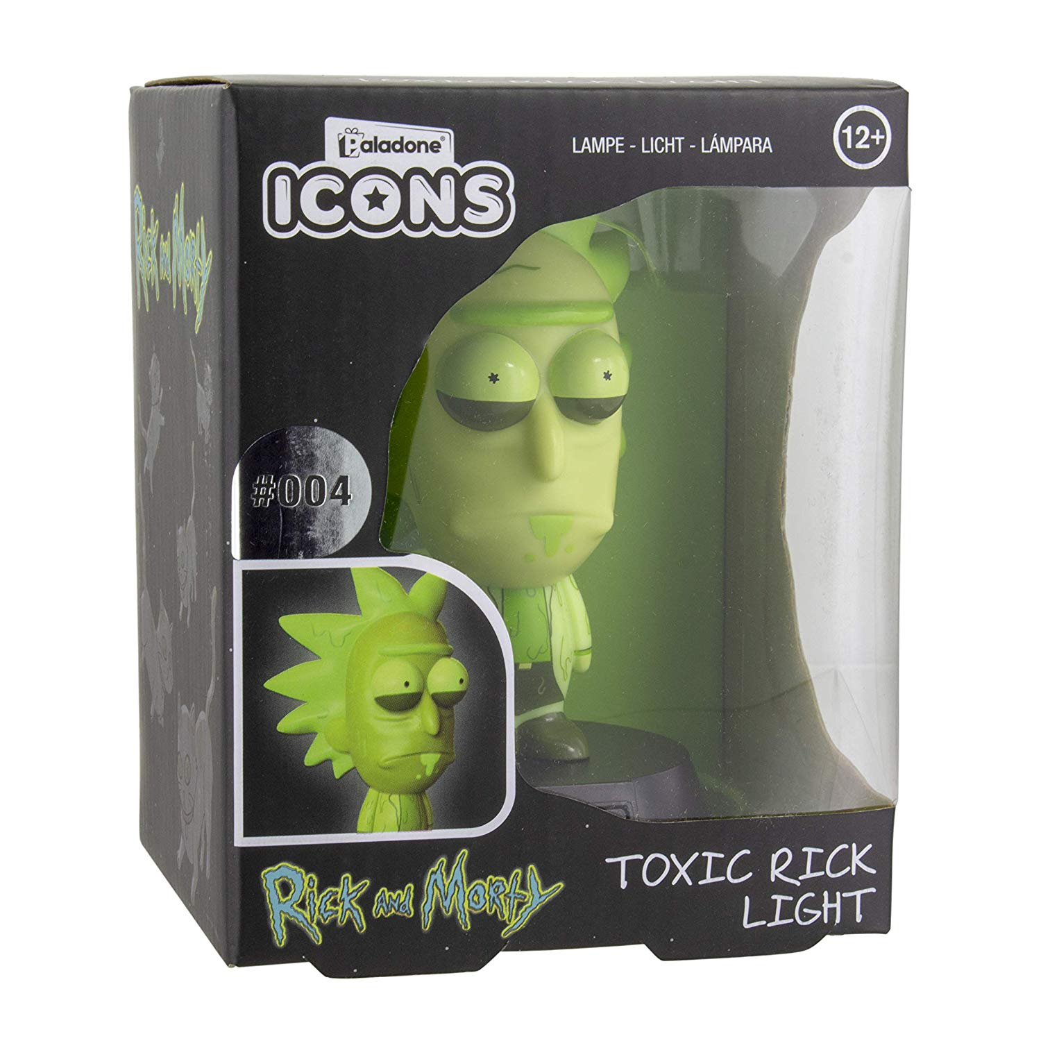 Toxic Rick Icon 3D LED Light | Collectible Rick & Morty Lights | Ideal Night Light for Kids Bedrooms, Office & Home | Paladone Pop Culture Lighting Merchandise