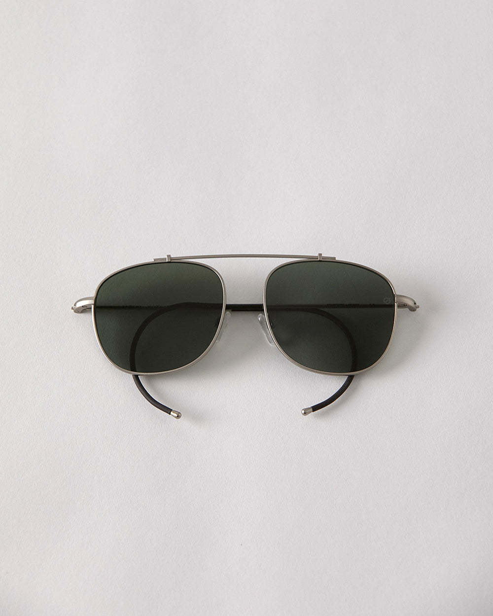 Notomy - Silver Matte / Green Polarised