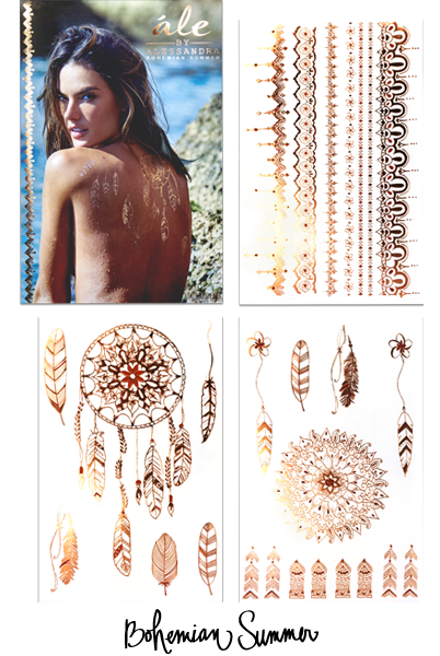 Bohemian Summer | Copper Metallic and Rustic Terra Cotta Tattoo Collection