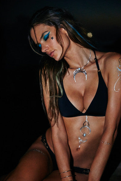 White Sands | Silver Metallic and Turquoise Tattoo Collection