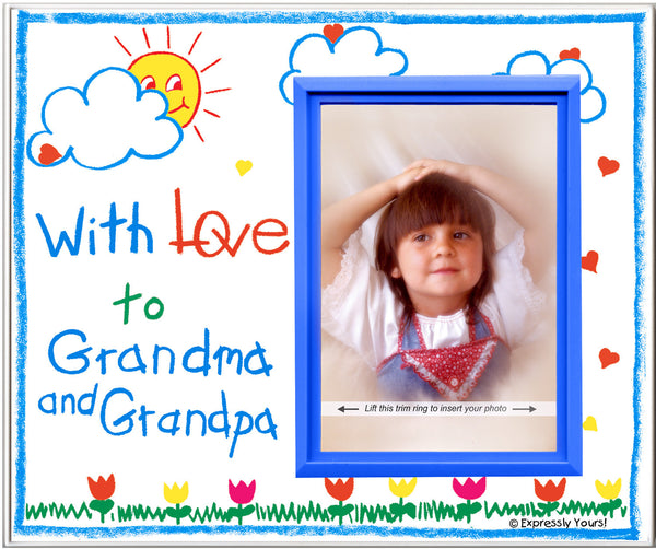 with love to grandma grandpa crayola picture frame