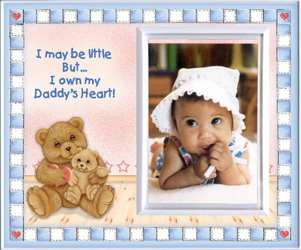 i may be little but i own my daddys heart picture frame