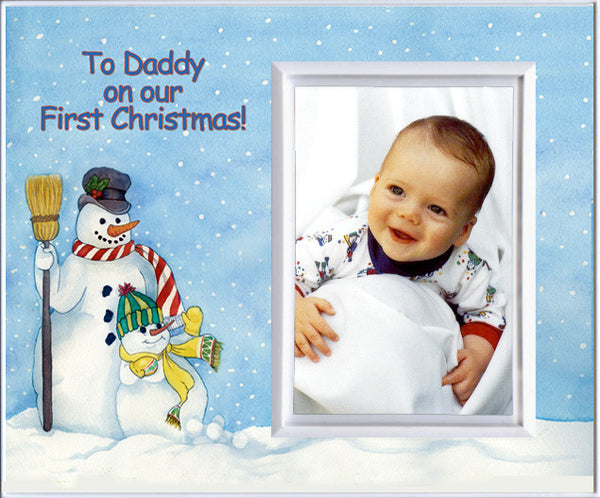 to daddy on our first christmas picture frame