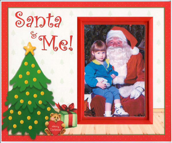 santa and me christmas picture frame