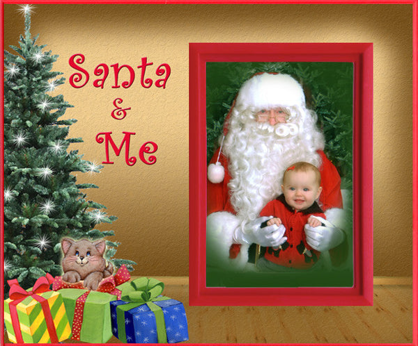 santa and me kitten christmas picture frame