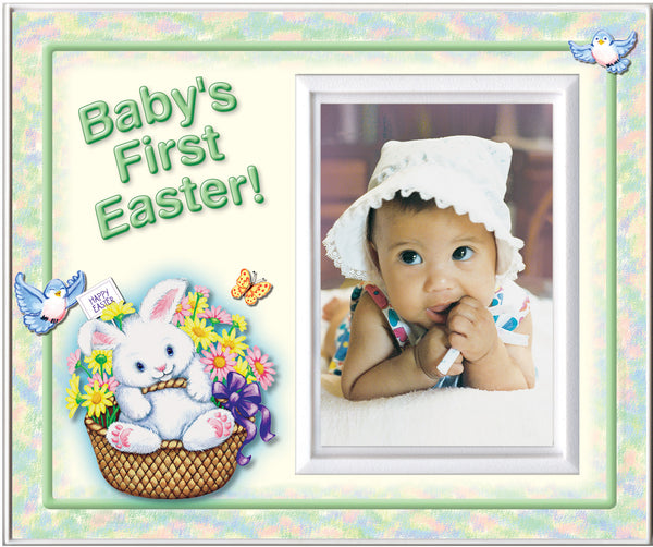babys first easter green picture frame