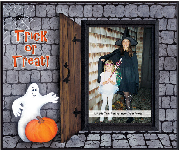 trick or treat halloween picture frame
