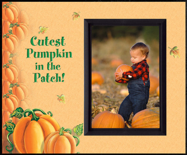 cutest pumpkin in the patch blk halloween picture frame