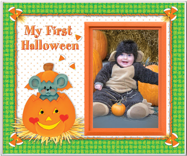 my first halloween picture frame