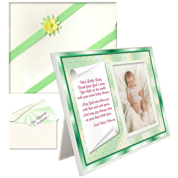 "Baptism, Dedication, Christening Gifts ""Irish Baby Blessing"" Picture Frame"