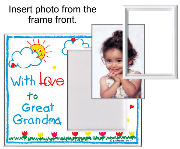i may be little but i own my grandpas heart picture frame