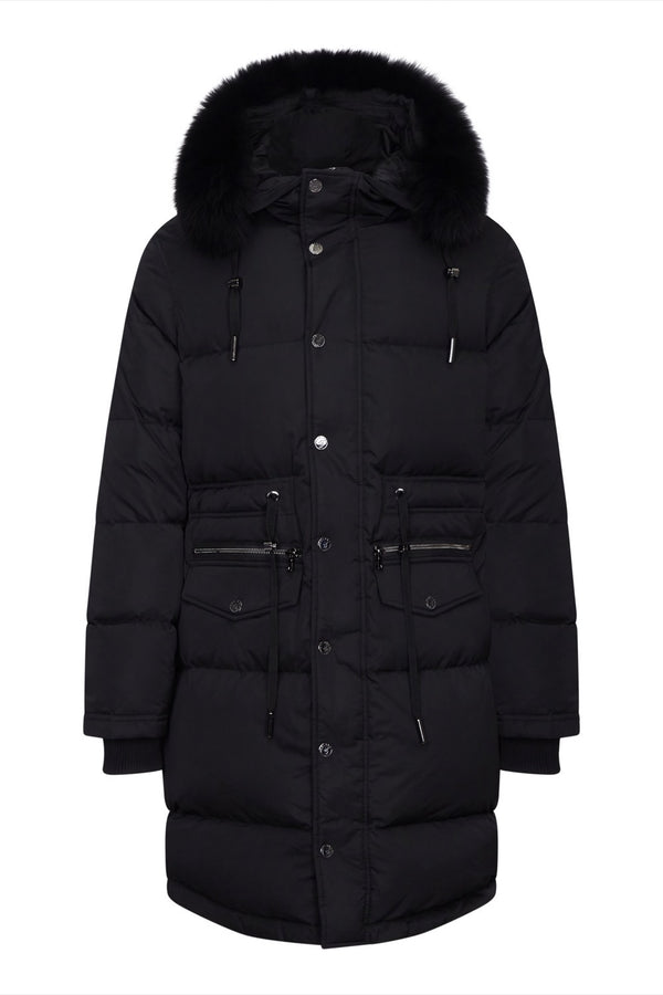 Benjart Long Parka - Black - Unisex