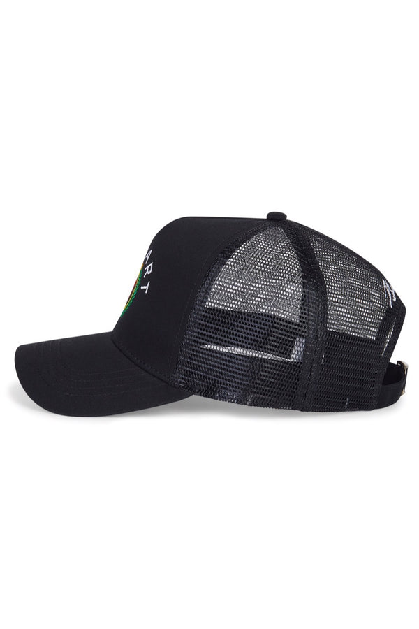 Benjart Regal Mesh Snapback Cap - Black