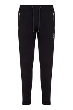HRH Benjart chrome zip Joggers - Black