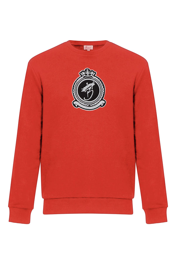 Benjart Lux Crewneck Chrome -  Red (Preorder)