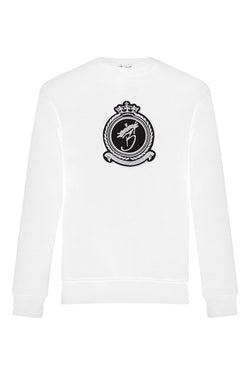 Benjart lux crewneck Chrome -  White