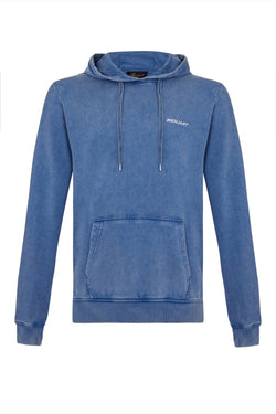 Benjart Racer washed blue denim pullover