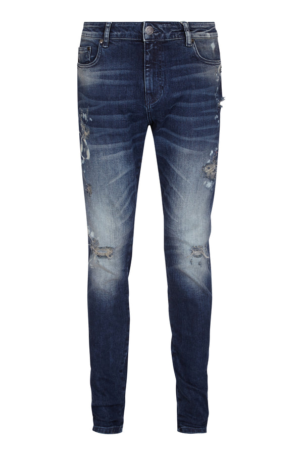 Benjart Denim Jean - Stone blue distressed
